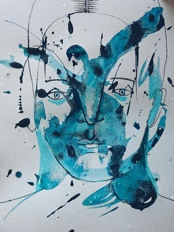 illustration, drawing, acrylic - marina_sav | ello