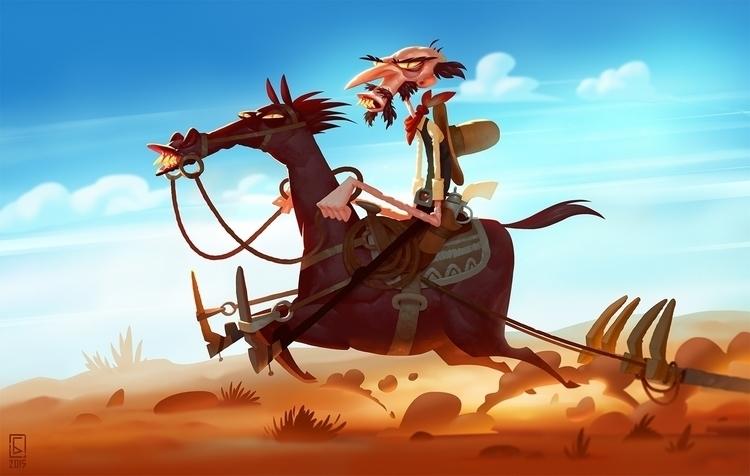 bounty hunter - bountyhunter, horse - boris_bakliza | ello