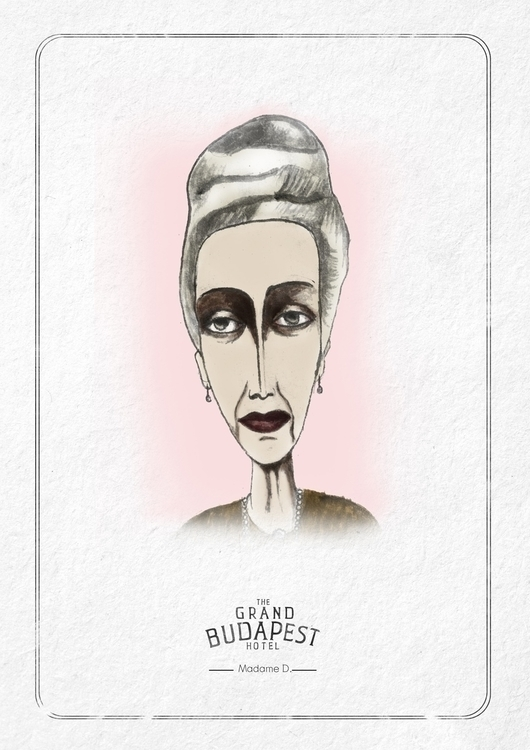 Characters GRAND BUDAPEST - ink - cardula   ello