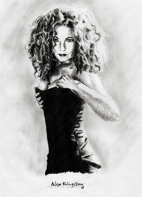 Alex Kingston Pencil - juliagurevich | ello