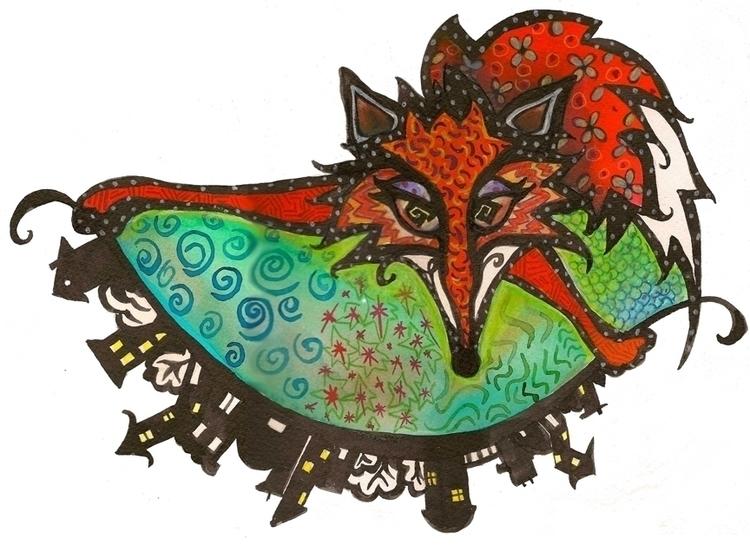 Fox Flips - fox, upsidedown, children'sillustration - catsnodgrass | ello