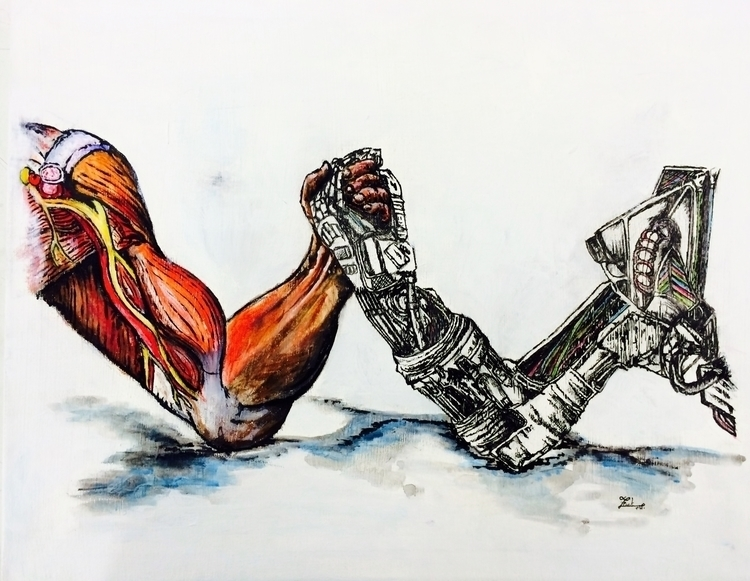 Man Machine - illustration, drawing - thornfd | ello