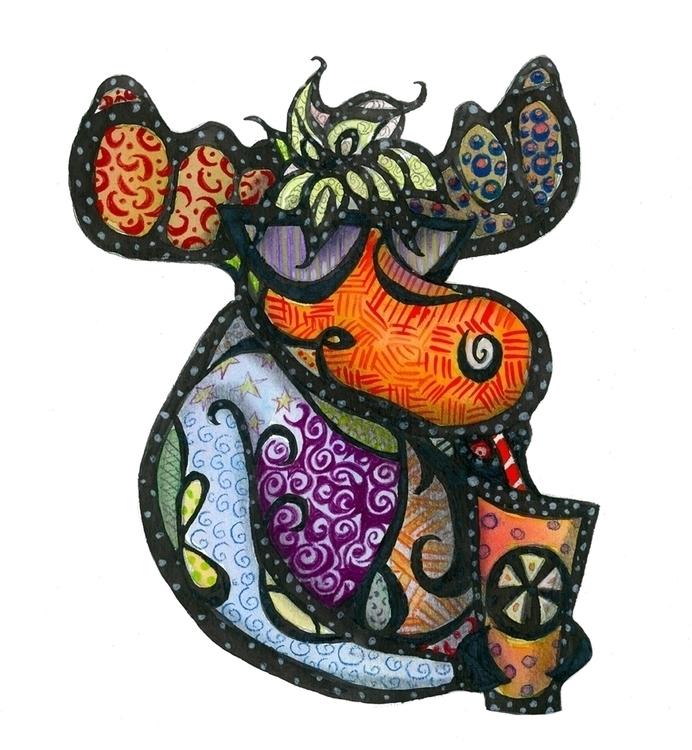 Moody Moose - moody, moose, children'sillustration - catsnodgrass | ello