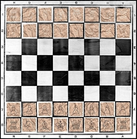 Chess board playing pieces pape - leo_brix | ello