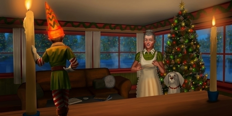 Christmas Tree Elf, multiple aw - jrhumphries | ello