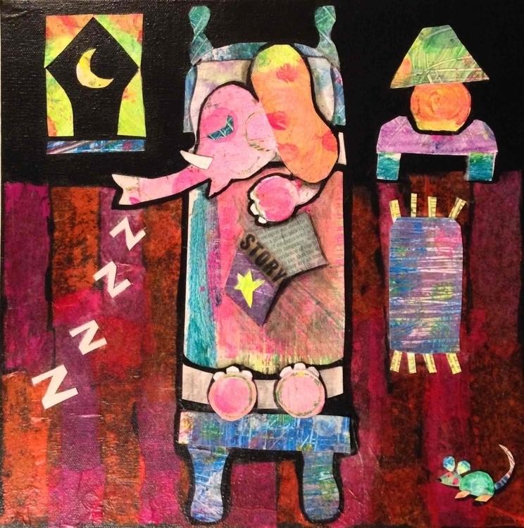 Bedtime Story - elephant, bedtime - catsnodgrass   ello