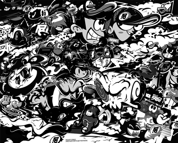 MGNG - illustration, blackandwhite - mgng | ello