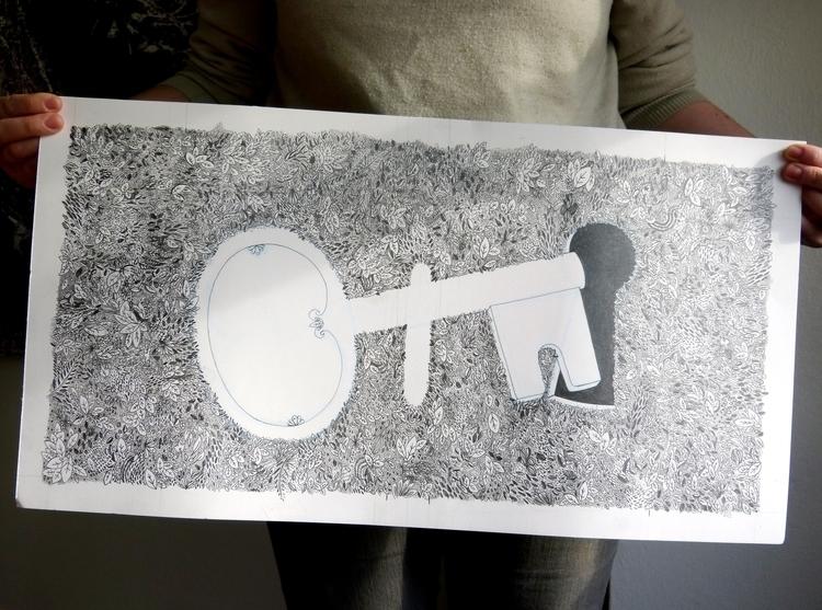 Secret Garden: pencil drawing - illustration - maggiemcaton | ello