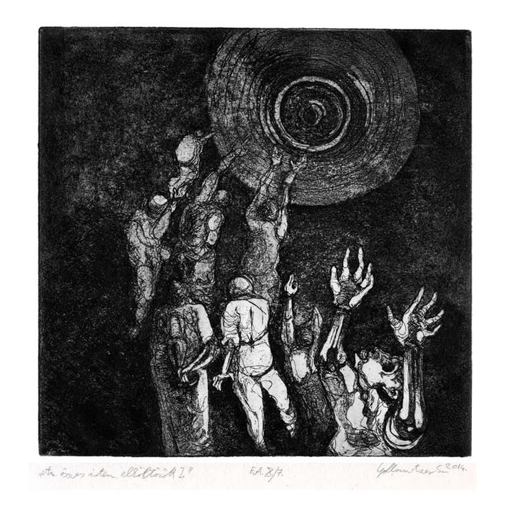 gods - etching, illustration - gollo-1028 | ello