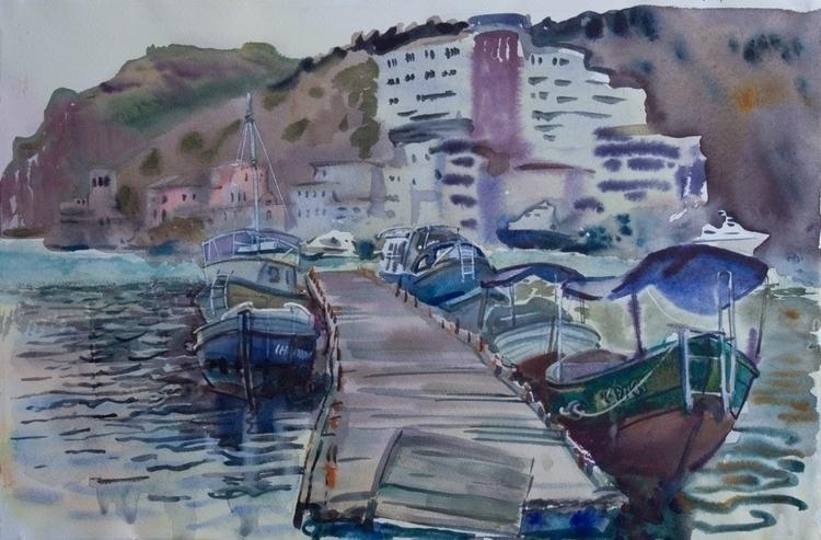 watercolor, watercolour, sea - naktisart | ello