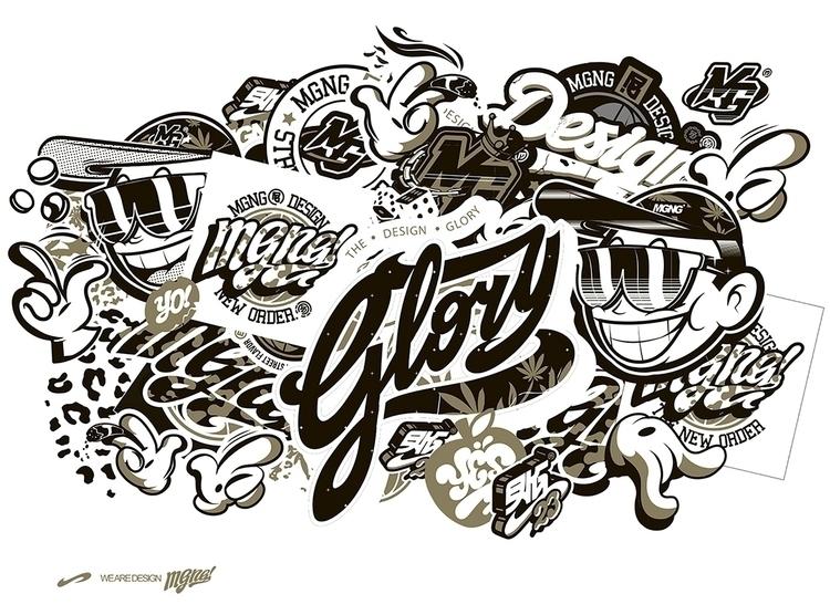 DESIGN GLORY - stickers, logo, MGNG - mgng | ello