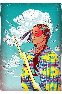 Thunder Woman - print, screenprint - onedove | ello