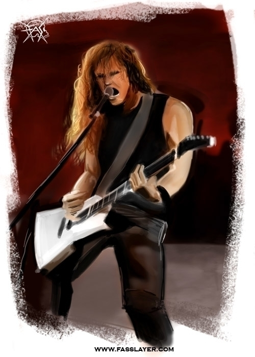 James Hetfield painting - jameshetfield - fasslayer | ello