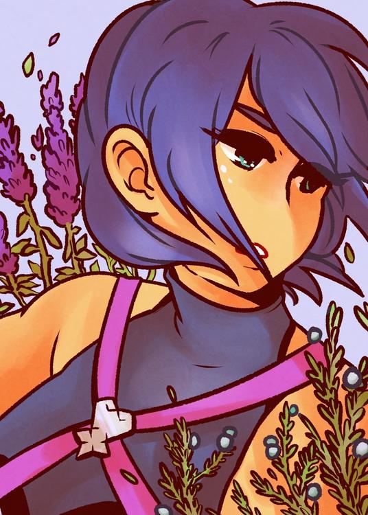 kingdomhearts, aqua, illustration - yormgen | ello