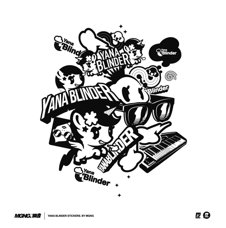Yana Blinder Stickers - MGNG, Music - mgng   ello
