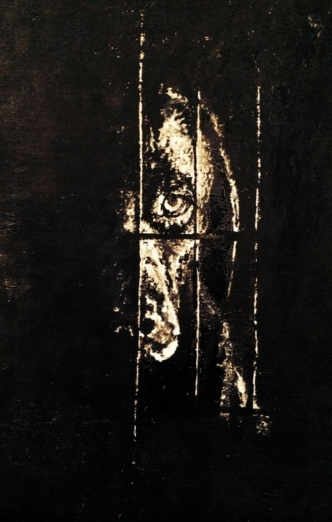 Trapped - blackandwhite, painting - thornfd | ello