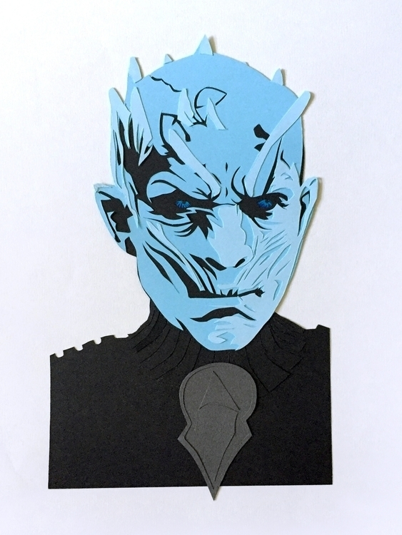 Papercut White Walker Game Thro - utensils0 | ello