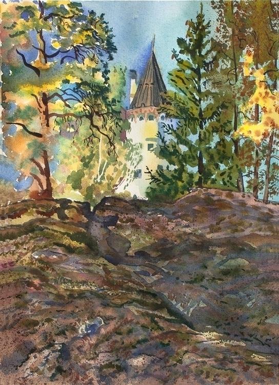 Imatra, Finland - watercolor, watercolour - naktisart | ello
