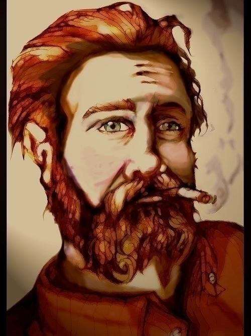 Avery - beard, portrait, painting - jeremieduval | ello