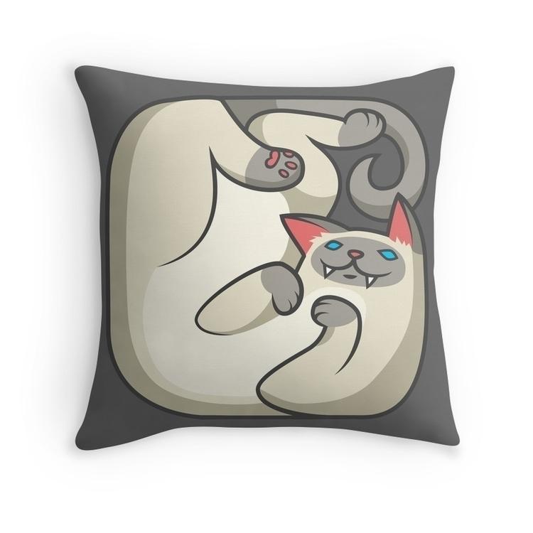 square cat print - illustration - pushkina | ello
