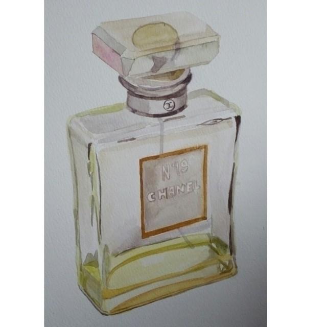 perfume watercolor - paper, watercolour - artolgash   ello