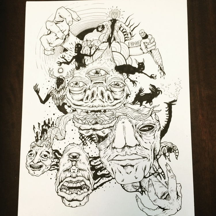 Allgod - illustration, drawing, blackandwhite - ptdrake | ello