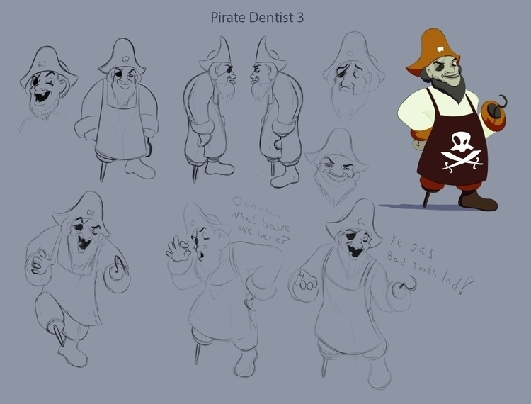 Pirate Dentist Early - characterdesign - bagam | ello