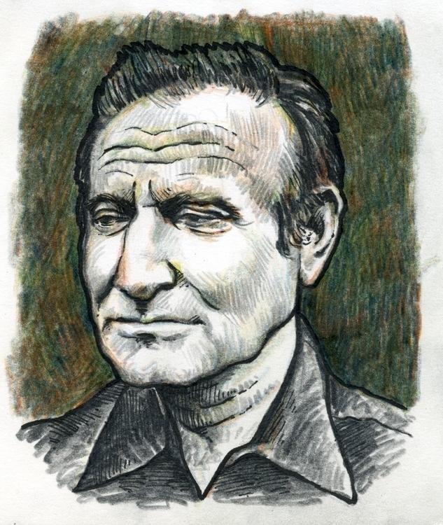 Robin Williams - portrait, fineliner - prianikn   ello