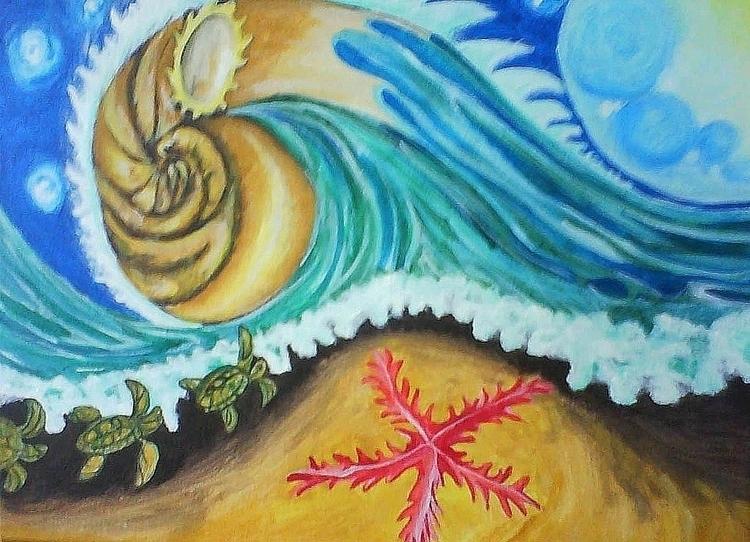 home - acrylicpaint, ocean, turtles - rinamr | ello