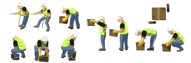 Harbor Worker poses - characterdesign - bagam   ello