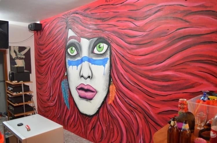 Mural el Salon - mural, art, street - alejandropinpon | ello