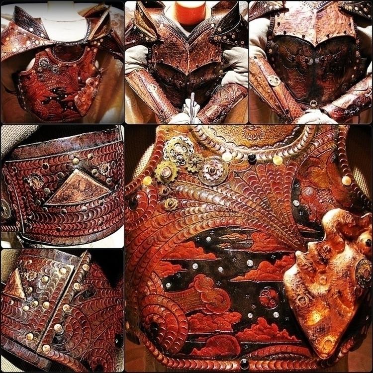 Steampunk Samurai - Fineart, Leatherwork - badlukart | ello