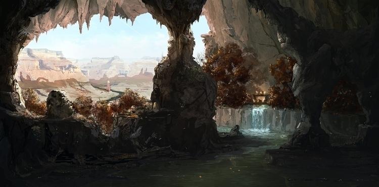 Secret cave - digitalart, digitalpainting - k0ori | ello
