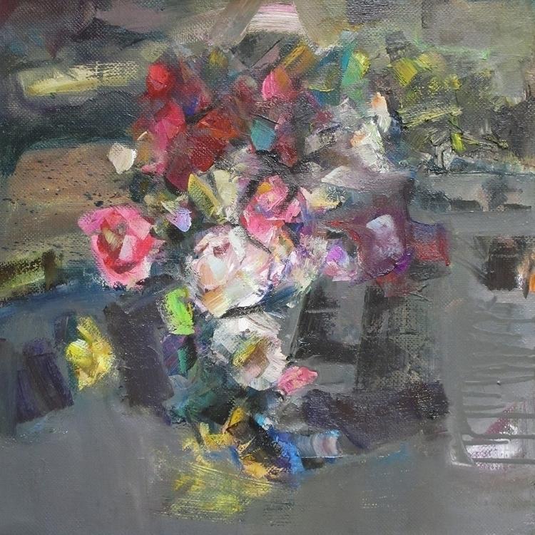 life roses - painting - vladimirmishyra   ello