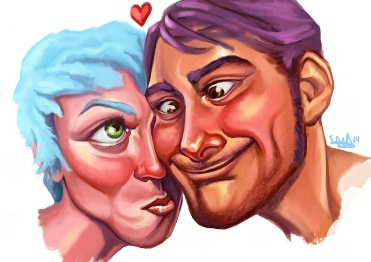digitalpainting, portrait, couple - evabites | ello