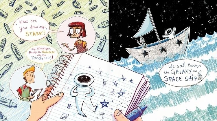 Starr Doodlenaut - Space Ship - illustration - maggiemcaton | ello