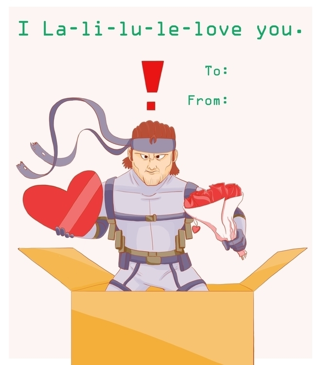 Metal Gear Valentine Card - metalgearsolid - travisfowlerart | ello