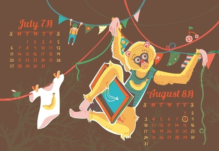 2014 Calendar - characterdesign - katehuang | ello
