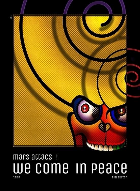 Mars Attacks - illustration, design - kat77-2308 | ello