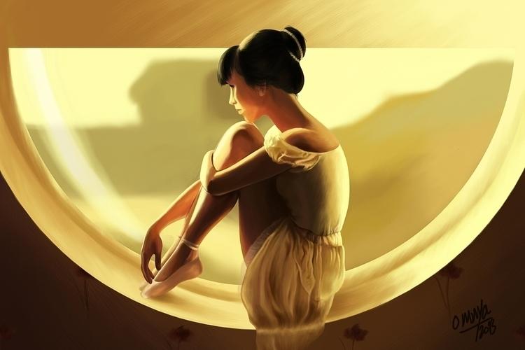 Ballerina - illustration, animation - omnyahussein | ello