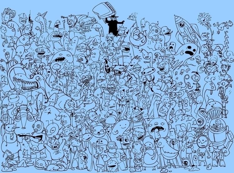 bunch dudes - doodles - jeremieduval   ello