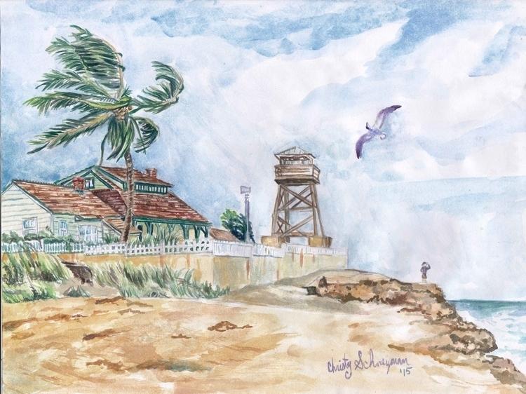 Refuge Sketchbook Painting - sketchbook - violetskyart | ello