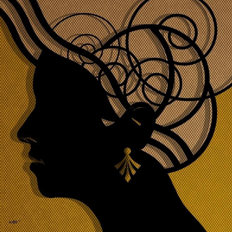 Panagiota - illustration, portrait - kat77-2308   ello