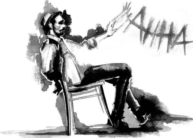 painting, ink, illustration, blackandwhite - annagosteva | ello