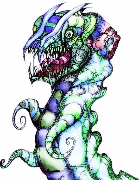 goofy dragon monster - jeremieduval | ello
