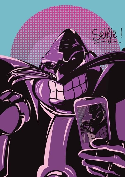 Robotnik selfie  - illustration - jerryleebernard | ello