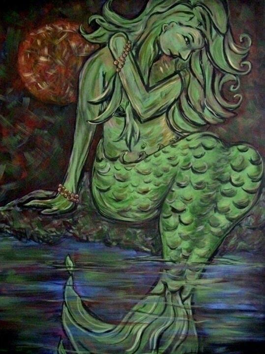 Mermaid - painting, Nature - michele-1314 | ello