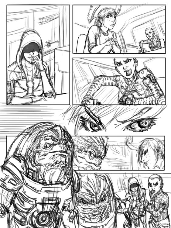 Rough digital comic featuring c - candaceaprillee   ello