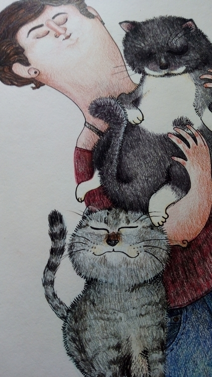 ilustracion, illustration, cats - monicatoledo | ello