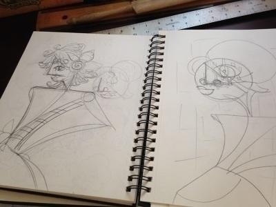 sketchbook, pencil, doodle, doodles - catsnodgrass   ello